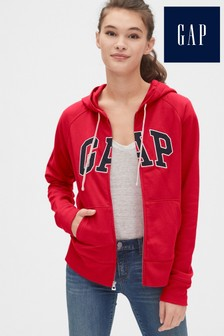 Gap Red Logo Zip Through Hoody