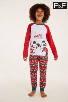 F&F Multi Red 34 Mickey Mouse™ Family Pyjamas