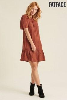 FatFace Brown Louise Micro Star Dress