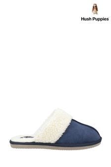 Hush Puppies Blue Arianna Mule Slippers