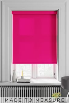 Asher Fuchsia Pink Made To Measure Light Filtering Roller Blind