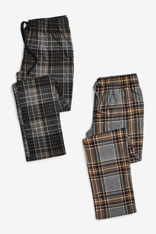 Check Cosy Pyjama Bottoms 2 Pack