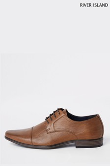 River Island Tan Reggae Toecap Shoes