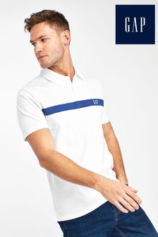 Gap White Logo Polo