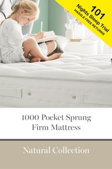 1000 Pocket Sprung Firm Natural Mattress