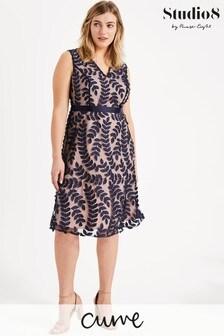 Studio 8 Blue Evie Leaf Dress