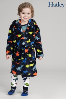 Hatley Blue Dino Herd Fleece Robe