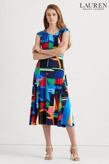 Lauren Ralph Lauren® Multicolour Geometric Print Yshanka Dress