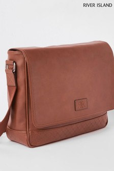 River Island Tan Flapover Bag