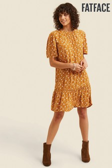 FatFace Yellow Louise Trellis Floral Dress