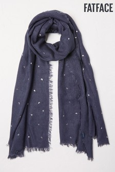FatFace Blue Star And Moon Scarf