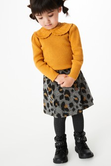 Pointelle Collar Knitted Top (3mths-7yrs)