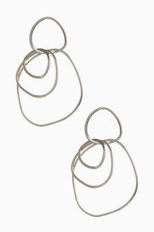 Multi Ring Drop Earrings