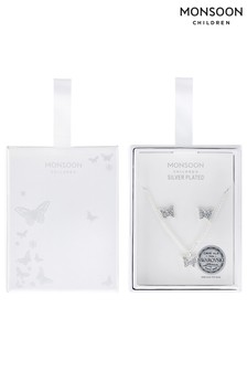 Monsoon Silver Plated Swarovski® Butterfly Set