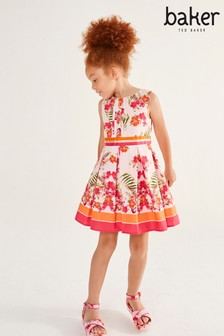 Baker by Ted Baker Girls Bright Floral Border Dress