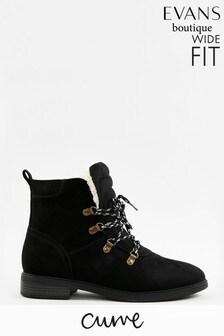 Evans Curve Extra Wide Fit Black Ski Boots