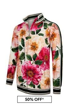 Dolce & Gabbana Kids Girls Pink Cotton Zip Up Top