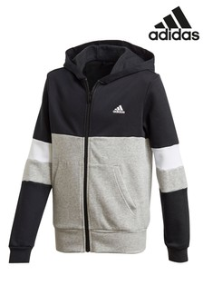 adidas Colourblock Zip Through Hoody
