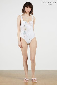 Ted Baker White Daizey Cupped Panel Swimsuit