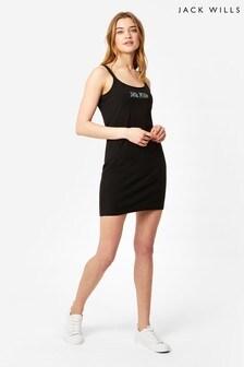 Jack Wills Black Albany Jersey Dress