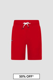 Tommy Hilfiger Boys Red Cotton Shorts
