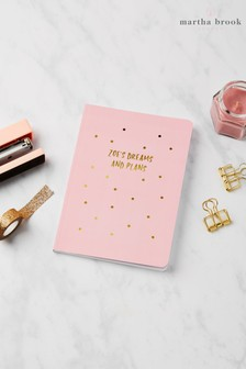 Personalised Gold Sprinkle Notebook by Martha Brook