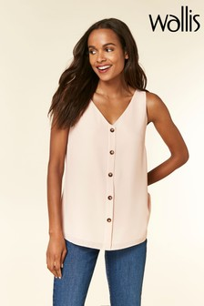 Wallis Petite Pink Button Through Cami