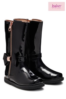 Baker by Ted Baker Black Patent Tall Boot