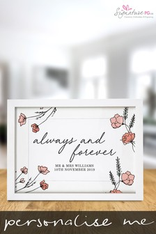Personalised Always & Forever A4 Framed Print by Signature PG