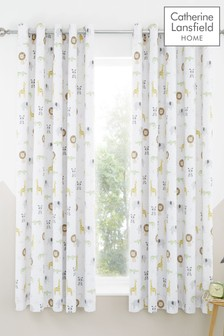Catherine Lansfield Natural Roarsome Eyelet Curtains