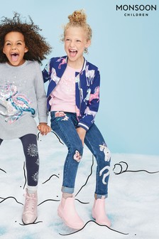 Monsoon Children Blue Eliza Unicorn Jeans