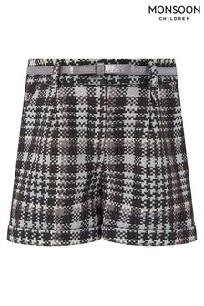 Monsoon Children Black Dolly Dogtooth Shorts