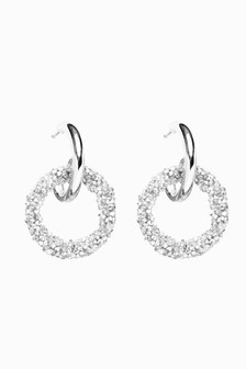 Sparkle Double Hoop Earrings