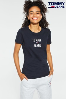 Tommy Jeans Black Square Logo T-Shirt