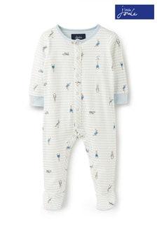 Joules Blue Ziggy Printed Babygrow