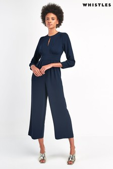 Whistles Navy Petra Jumpsuit