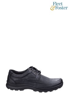 Fleet & Foster Black Luxor Lace-Up Shoes