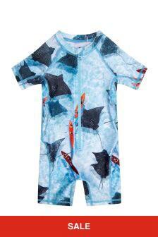 Molo Girls Blue Swimsuit
