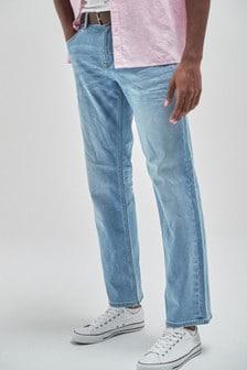 جينز بحزام خامة مطاطة