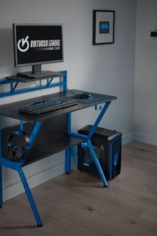 Rogue Gaming Desk Black And Blue By Lloyd Pascal