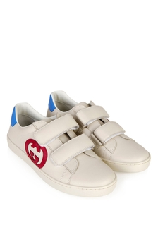GUCCI Kids Kids Cream Trainers