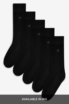 Plain Cushioned Sole Socks Five Pack