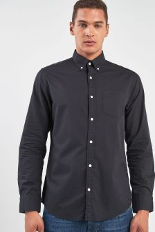 GANT Black Winter Twill Solid Regular Fit Shirt