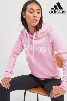 Sweat à capuche à enfiler adidas True Linear rose