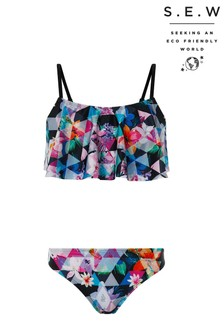 Monsoon Storm S.E.W Eliza Black Print Bikini