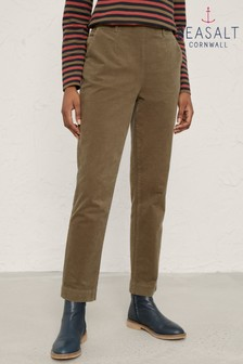 Seasalt Green Crackington Trousers Dark Seagrass