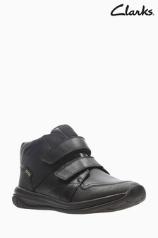 Clarks Youth Black Hula Spin GTX Velcro Trainer Shoe