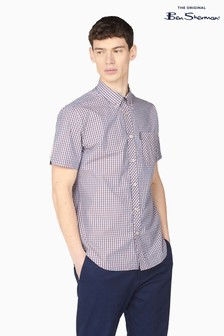 Ben Sherman Mango Short Sleeve Signature Core Gingham Shirt