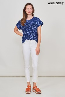 White Stuff White Straight Crop Jeans
