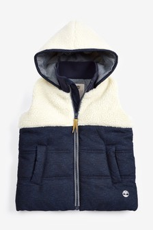 Timberland® Navy Hooded Gilet